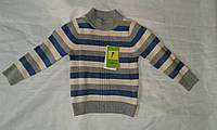 Гольф детский для мальчика 2-6 года,серый с синим
