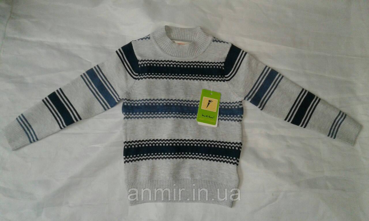 Гольф детский для мальчика 4-8 лет ,серый в полоску