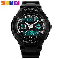 Водонепроницаемые, мужские часы Skmei S-Shock 0931 (Silver grey) - спортивные, ударостойкие