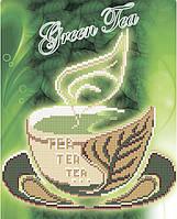 Схема для вышивки бисером Зеленый чай
