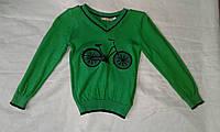 Свитер детский для мальчика 3-6 года,зеленый