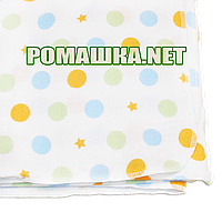 Белая детская фланелевая пелёнка 110х90 см (фланель, байковая, байка) теплая для пеленания 3267 Зеленый