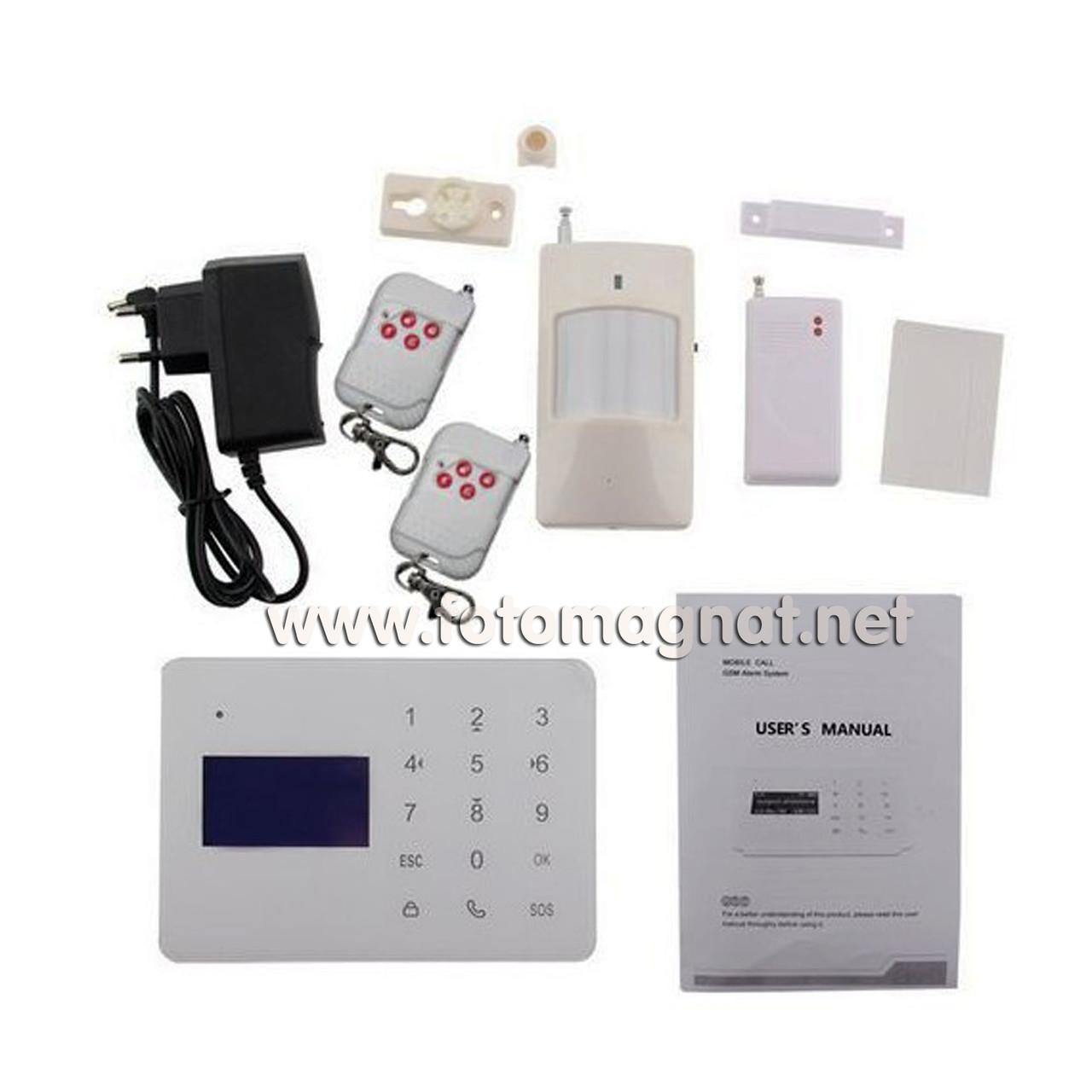 Сигнализация GSM (комплект) COLARIX ALM-GSM-003 (охранная сигнализация gsm)