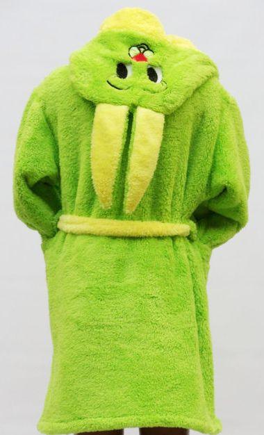 Махровый халат для детей Заяц