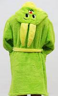 Махровый халат для детей Заяц, фото 1