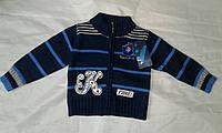 Кофта детская для мальчика 1-4 года,темно синяя