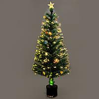 Новогодняя , светящияся, оптоволоконная, елочка 150 см