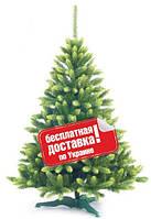 ЕЛЬ ИСКУССТВЕННАЯ КОРОЛЕВА ЕВРОПЕЙСКАЯ 220 СМ ( САЛАТОВОЕ НАПЫЛЕНИЕ)