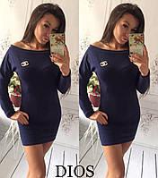 Женское короткое платье (туника)  ангора