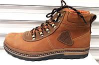 Ботинки зимние мужские кожаные рыжие Uk0371