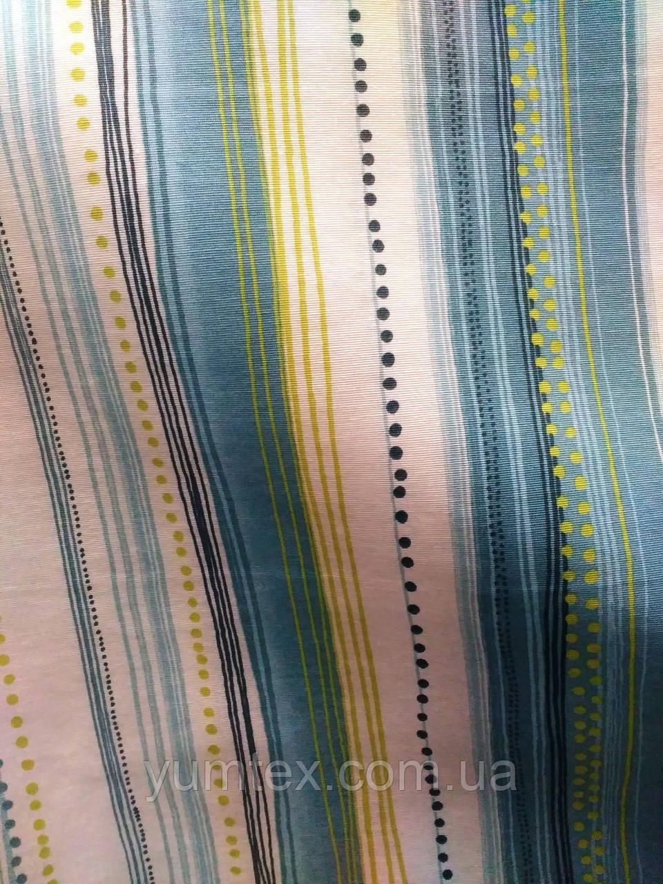 Декоративная ткань полоска Каста, цвет № 3