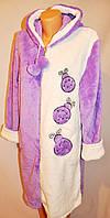 Махровый халат с вышивкой на молнии