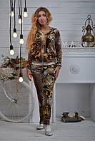 """Женский велюровый турецкий костюм """"Roberto Cavalli"""" со стразами ; разм 42,44,46,48"""