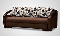 Диван Севилья мех., Еврокнижка мебельные пружины, AYA Chocolate / подушки lilium beige-brown