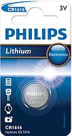 Батарейка таблетка щелочная PHILIPS CR1616 BLI 1 LITHIUM