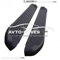 Боковые подножки для SsangYong Korando (в стиле BMW X5 CanOto) черные