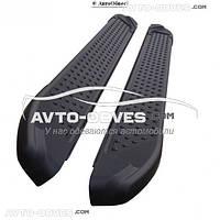 Подножки боковые для Toyota Highlander (в стиле BMW X5 Turkey) черные