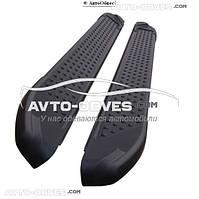Боковые подножки для Шкода Ети (в стиле БМВ Х5 Turkey) черные