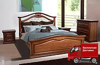 Кровать двуспальная Маргарита массив ольхи