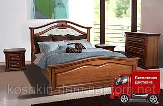 Ліжко двоспальне Маргарита 160*200 масив вільхи