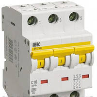 Автоматический выключатель ВА 47-60 3Р 16А 6 кА  х-ка C ИЭК