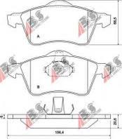 Гальмівні колодки передні без датчика (ATE, R15, 156.4x68.5x19.5mm) VW T4 96-03 13-91 36986 ABS (Нідерланди)