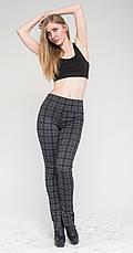 Женские леггинсы-штаны под каблук серая клетка, р.42-56, фото 2