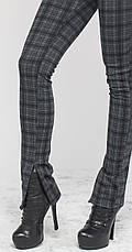 Женские леггинсы-штаны под каблук серая клетка, р.42-56, фото 3