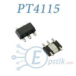PT4115, (CL6808), стабилизатор тока с диммированием, 30В, 1.2А, SOT89-5