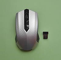 Компьютерная мышка беспроводная 2,4Ghz USB, серебристая