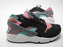 Женские кроссовки Nike Air Huarache Black-rose