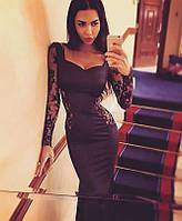 Платье с кружевными вставками 5909