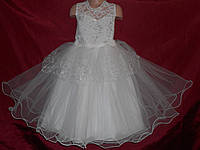 Праздничное платье для девочки 4-7 с компьютерной вышивкой лет № 3