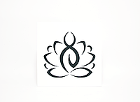Панно белое «Черный йог в позе лотоса»