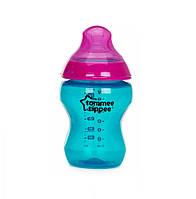 Бутылочка Tommee Tippee Color my world голубая с малиновым, 260мл
