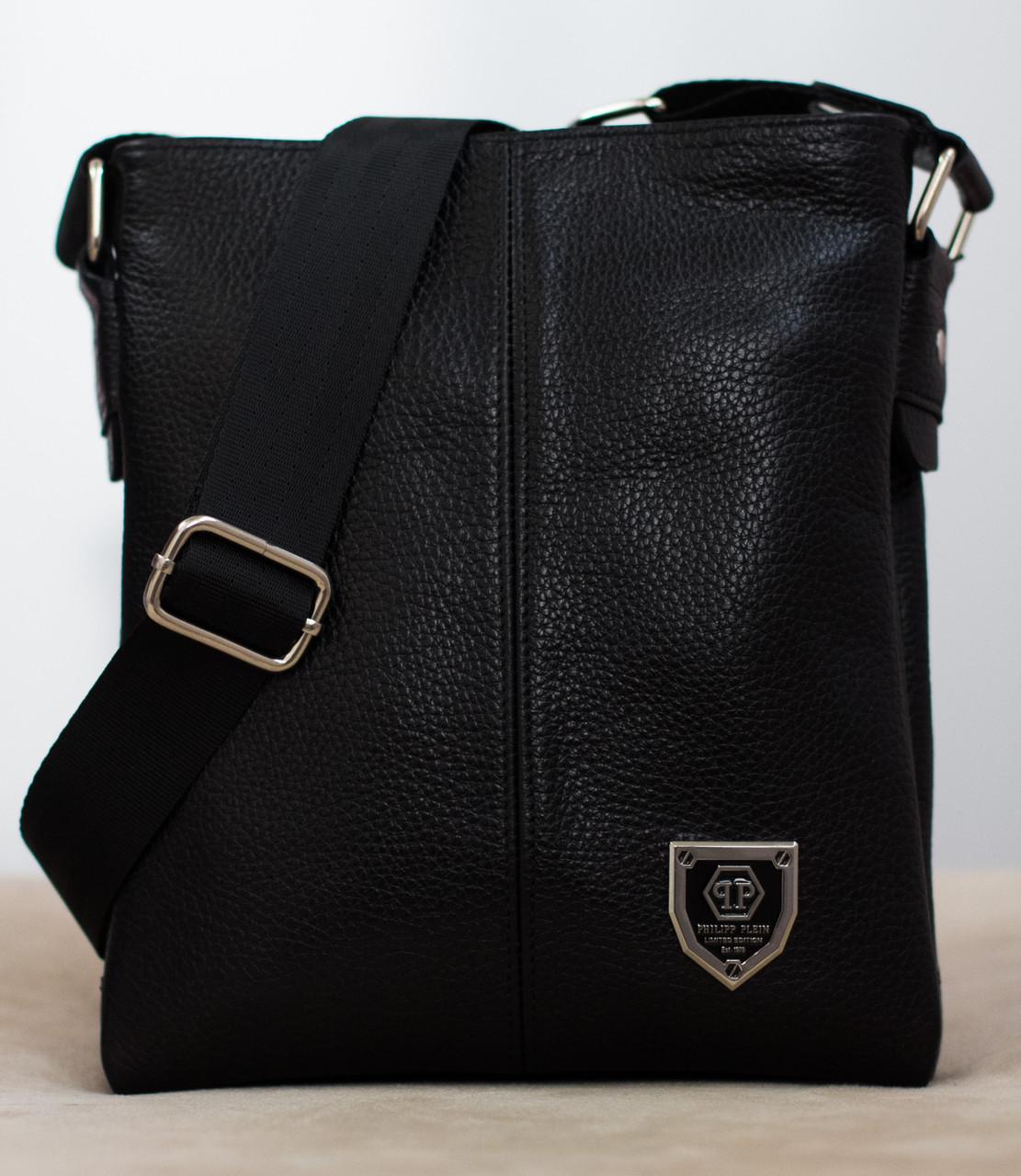 28ccaea20b88 Кожаная мужская сумка Philipp Plein 22*19см БЕСПЛАТНАЯ ДОСТАВКА! - Bagsland  в Харькове