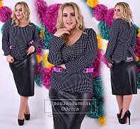 Стильная женская блузка-туника большого размера (р.46-62)
