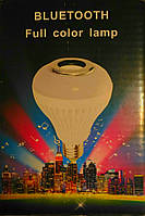 Вращающаяся лампочка для вечеринок со встроенным динамиком Bluetooth Full Color Lamp, диско-лампочка с блютус, фото 1