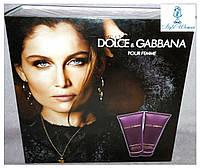 Подарочный набор Dolce&Gabbana Pour Femme, парфюмированый гель для душа и лосьон для тела женский, 200мл