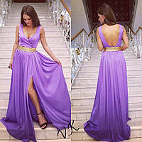 Вечернее платье из шифона длинное  4808 (много цветов)