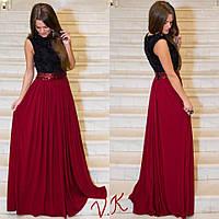 Вечернее длинное платье с пышной юбкой А 999