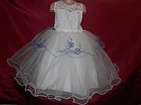 Праздничное платье для девочки 4-7 лет с компьютерной вышивкой № 8