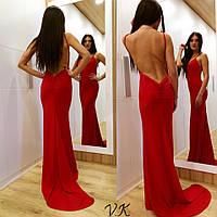 Вечернее длинное платье с открытой спиной 40991