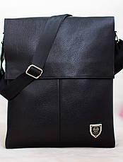 Кожаная мужская сумка Philipp Plein  27*33см, фото 3