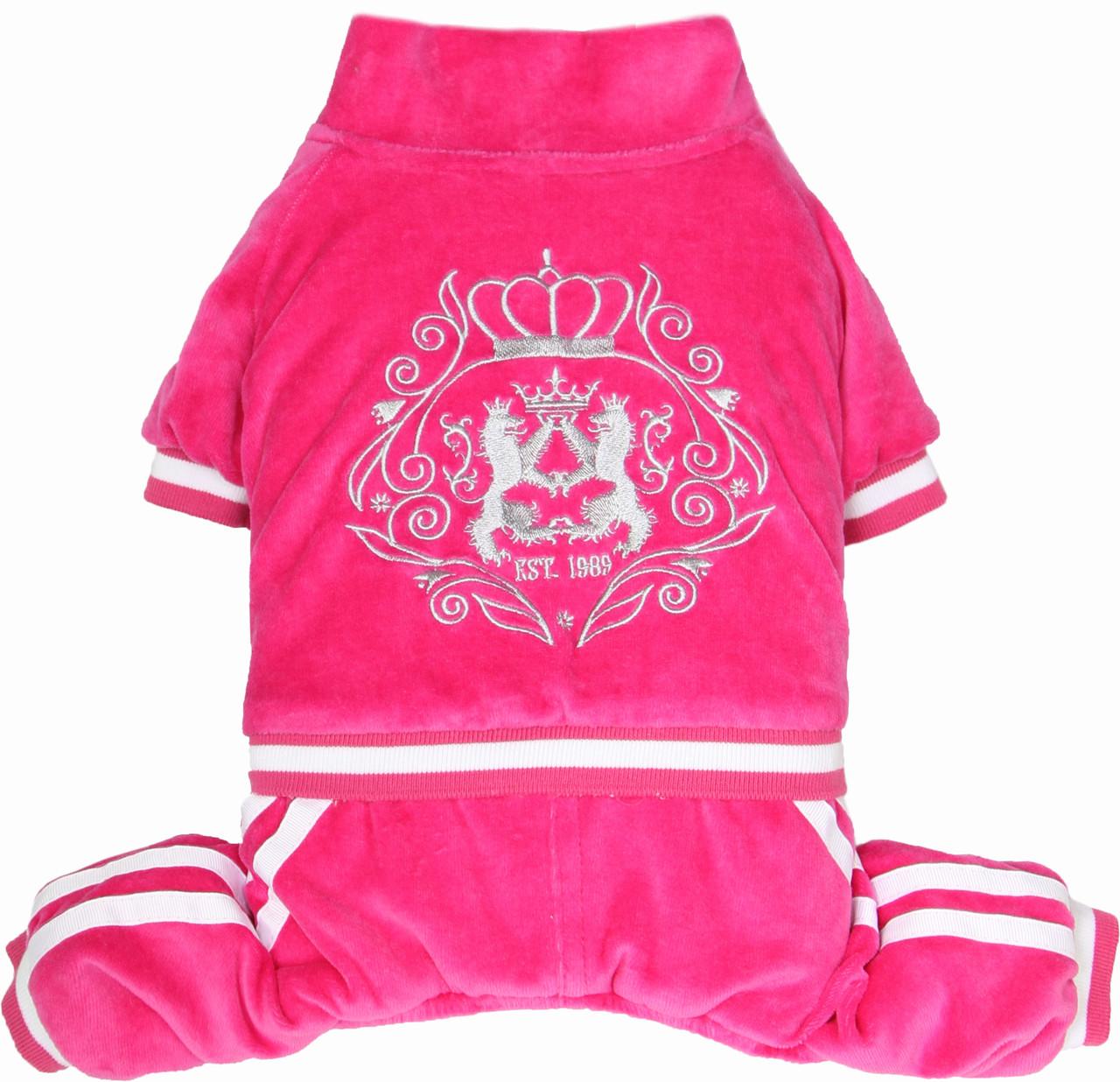 Костюм для собак Добаз, Dobaz Luxury velour розовый
