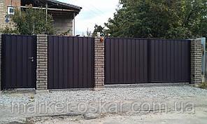 Розпашні ворота — зашивання профнастил