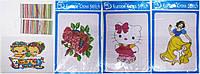 Набор 2885 для вышивания (Цветной картон +иголка, нитки) 21х27см уп16 ящ48