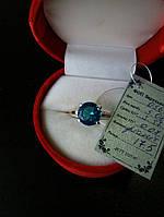 Серебряное кольцо  925 с золотом  375 пробы