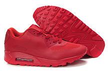 Кроссовки мужские Nike Air Max 90 Hyperfuse Red. серые кроссовки найк. кроссовки air, аир макс, кроссовк