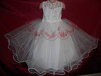 Праздничное платье для девочки с компьютерной вышивкой 4-7 лет № 10